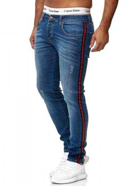 Herren Jeans Hose Slim Fit Männer Skinny Denim Designerjeans 611C