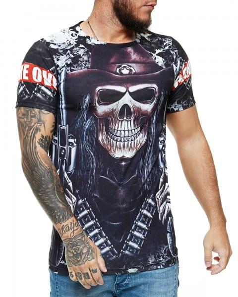 Herren T-Shirt Kurzarm Rundhals Game Over Modell 1472