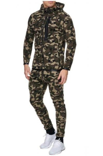 OneRedox Costume de jogging homme tailleur sport modèle 710 camouflage