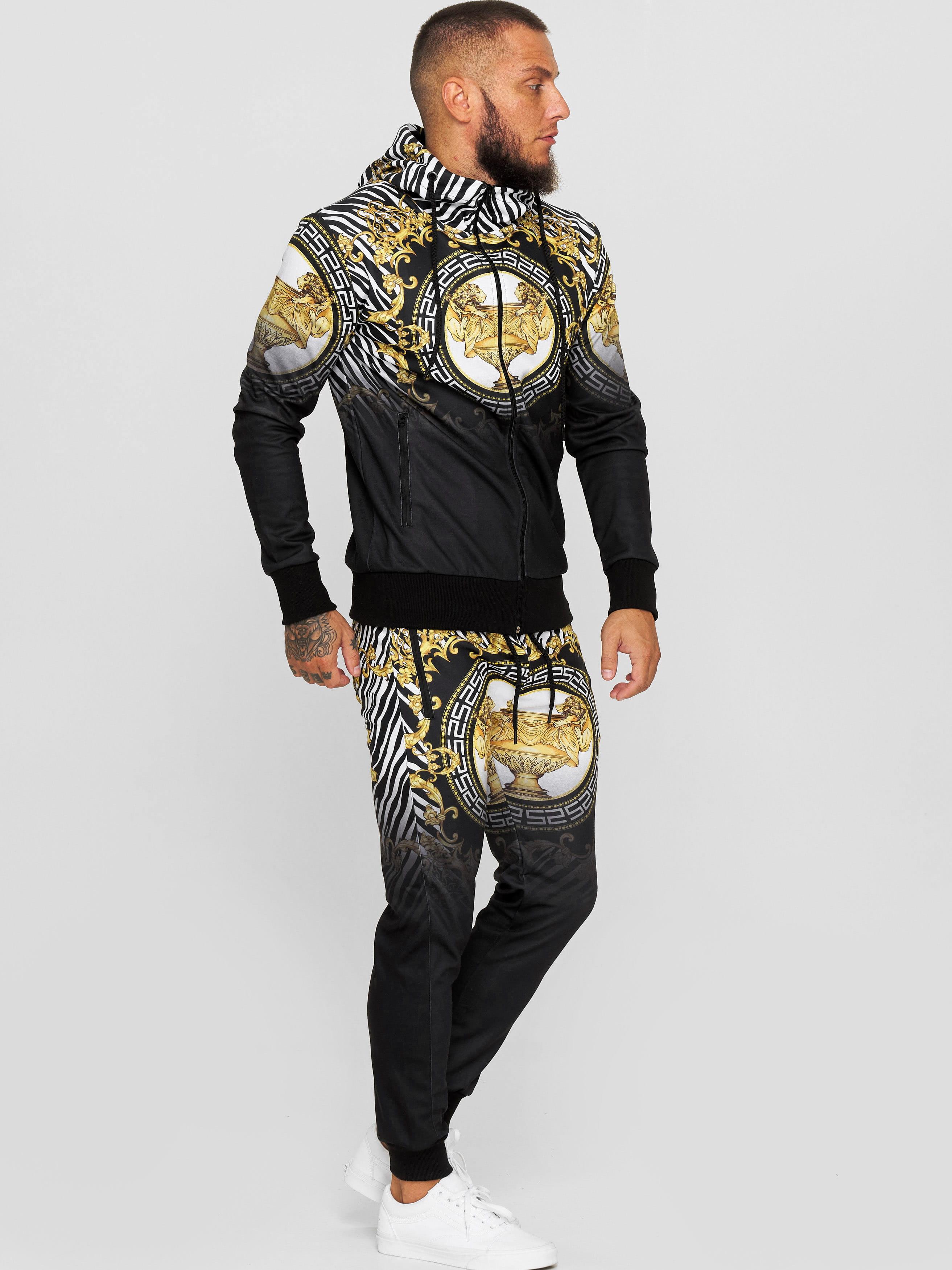 OneRedox Herren Jogginganzug Trainingsanzug M/änner Sportanzug Fitness Outfit Streetwear Tracksuit Jogginghose Hoodie-Sporthose Sportkleidung Comfort Fit Modell JG-1571C