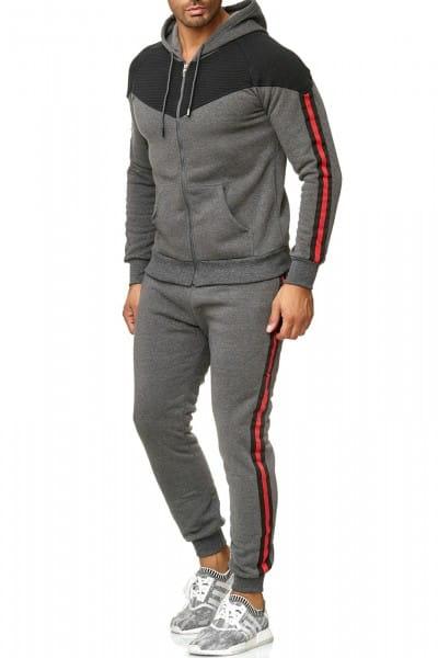 Herren Jogginganzug Trainingsanzug Sportanzug Fitness Streetwear 1018C