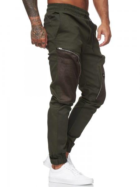 OneRedox Herren Cargo Hose Chino Pants Jeans Stoffhose Freizeithose Outdoor Military Style Seitentas