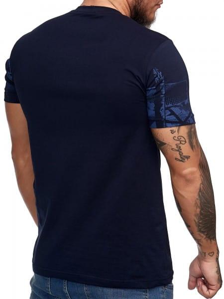 Herren T-Shirt Poloshirt Shirt Kurzarm Printshirt Polo Kurzarm 3DS4