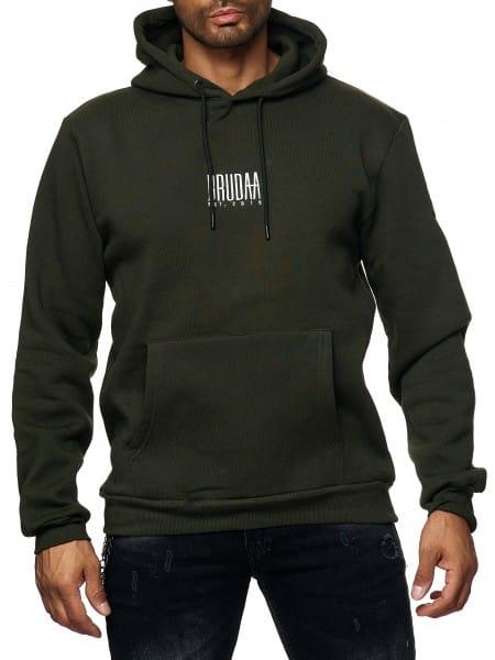 Herren Hoodie Kapuzenpullover Pullover Pulli Bauchtasche Modell BRU-007