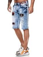 Herren Shorts Bermuda Jeansshorts Destroyed Wash Clubwear Modell E7556