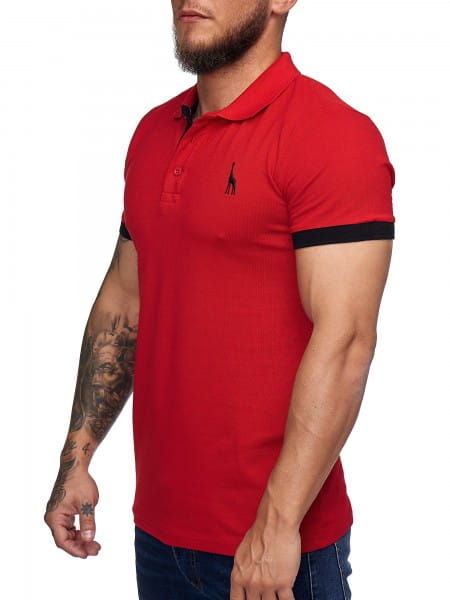 Heren T-Shirt Polo Shirt Korte mouw Printshirt Polo Korte mouw 1404c