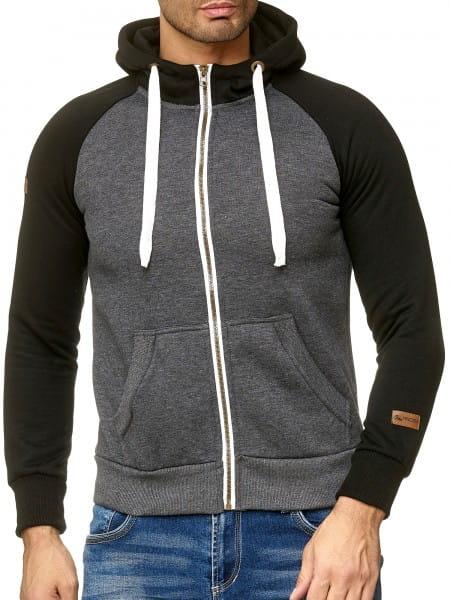 OneRedox Chandail à capuchon à capuchon Pull à capuchon tricoté Chandail à manches longues Sweatshirt Sweatshirt à manches longues Modèle A17