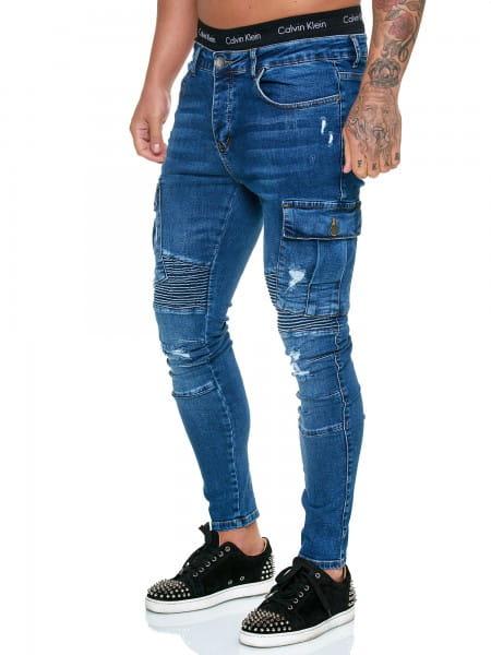 OneRedox Designer Jeans Pantalon Jeans Homme Pantalon Jeans Regular Skinny Fit Pantalon Jeans Basic Stretch Model j-8009