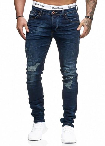 Jeans Hose Slim Fit Skinny Stretch Destroyed Washed 1279