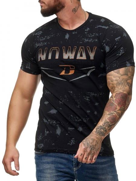 Herren T-Shirt Poloshirt Shirt Kurzarm Printshirt Polo Kurzarm 3379C