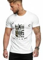 Herren T-Shirt Poloshirt Shirt Kurzarm Printshirt Polo Kurzarm 3288C