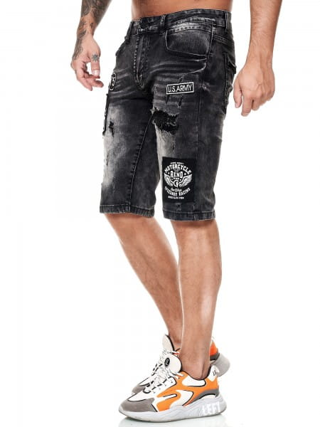 Herren Shorts Bermuda Jeansshorts Destroyed Wash Clubwear Modell E7518