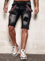 Herren Shorts Bermuda Jeansshorts Destroyed Wash Clubwear Modell E7533