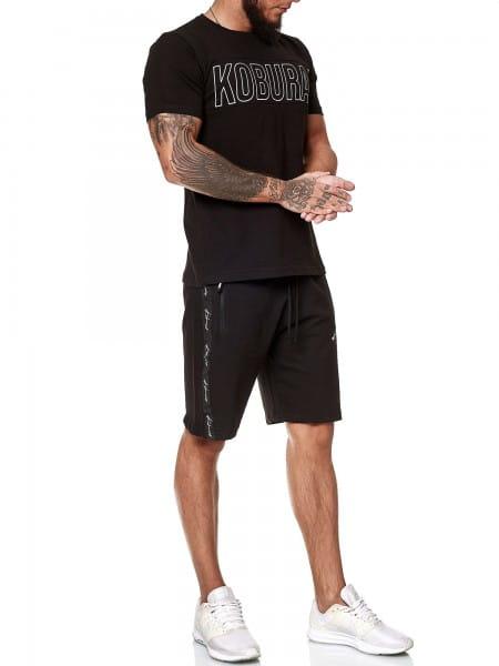 Koburas Herren Short-Jogginganzug Shortanzug Sportanzug Short T-Shirt Modell 2159