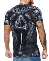 Herren T-Shirt Kurzarm Rundhals Death Souls Modell 1486