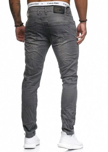 OneRedox Hommes Jeans Jeans Denim Slim Fit Used Design Model 5119 L.Grey