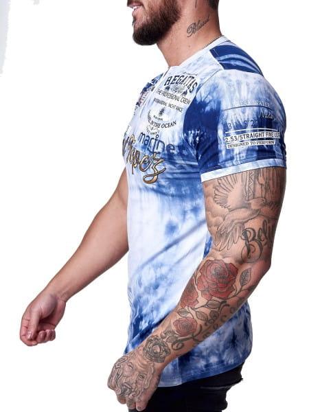 Herren T-Shirt Kurzarm Rundhals Saint Tropez Modell 3602