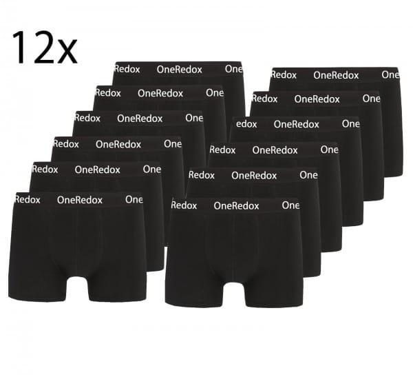 OneRedox Boxershorts Hommes Hommes 12er Pack Hommes Unterw