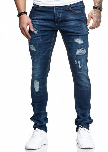 Jeans Hose Slim Fit Skinny Stretch Destroyed Washed 1282