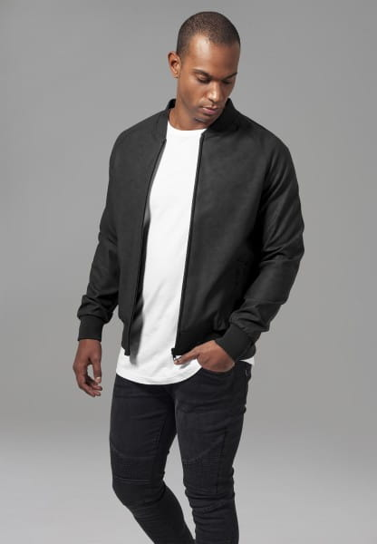 Imitation Leather Raglan Blouson