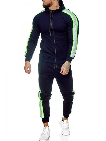 Heren trainingspak trainingspak fitness streetwear jg-1084