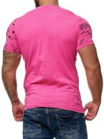 Heren T-Shirt Polo Shirt Korte mouw Printshirt Polo Korte mouw 3381c