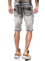 Herren Shorts Bermuda Jeansshorts Destroyed Wash Clubwear Modell E7536