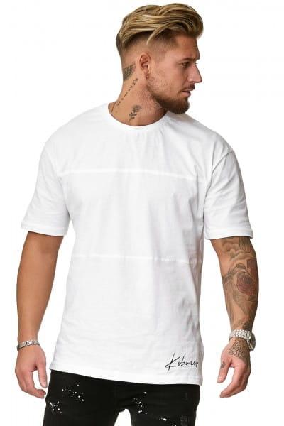 Herren T-Shirt Poloshirt Shirt Kurzarm Printshirt Polo Kurzarm KOK02