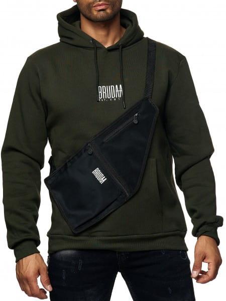 Herren Umhängetasche Schultertasche Bauchtasche Pushertasche Streetwear Modell BRU-199