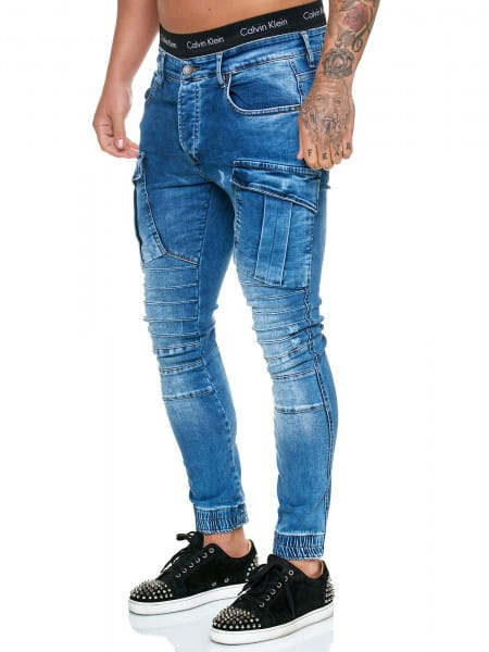 OneRedox Designer Jeans Pantalon Jeans Homme Pantalon Jeans Regular Skinny Fit Pantalon Jeans Basic Stretch Model j-8007